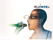 Madonna con gafas
