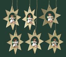 Adorno para el árbol: Orquesta de ángeles (dorado)
