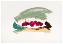 Plato con cerezas